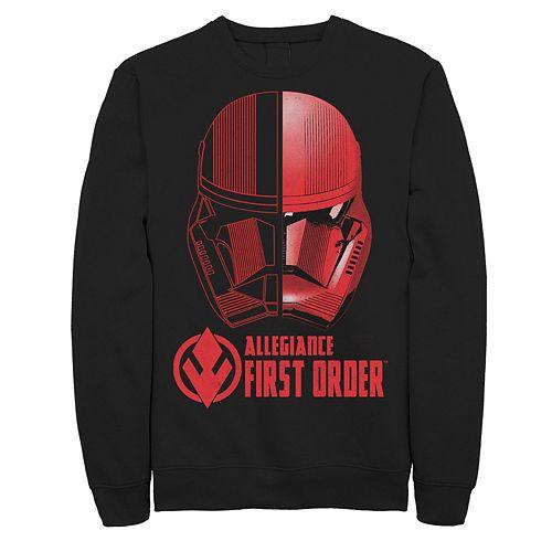 Men's Star Wars The Rise of Skywalker Sith Trooper Dual Helmet Fleece Graphic Top