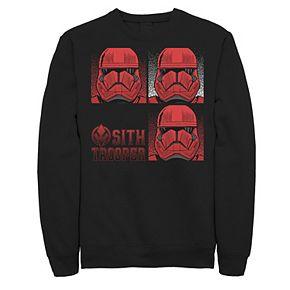 Men's Star Wars The Rise of Skywalker Sith Trooper Panels Fleece Graphic Top