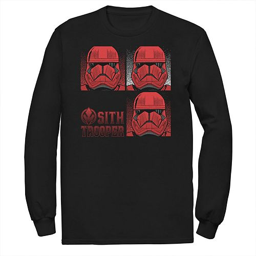 Men's Star Wars The Rise of Skywalker Sith Trooper Panels Long Sleeve Graphic Tee