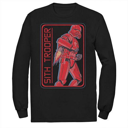 Men's Star Wars The Rise of Skywalker Sith Trooper Rocket Long Sleeve Graphic Tee
