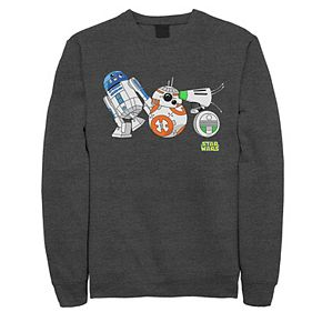 Men's Star Wars The Rise of Skywalker Droid Party Fleece Graphic Top
