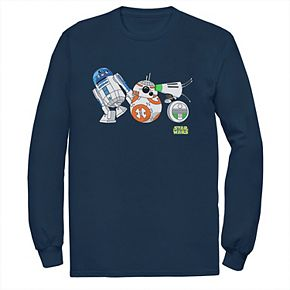 Men's Star Wars The Rise of Skywalker Droid Party Long Sleeve Graphic Tee