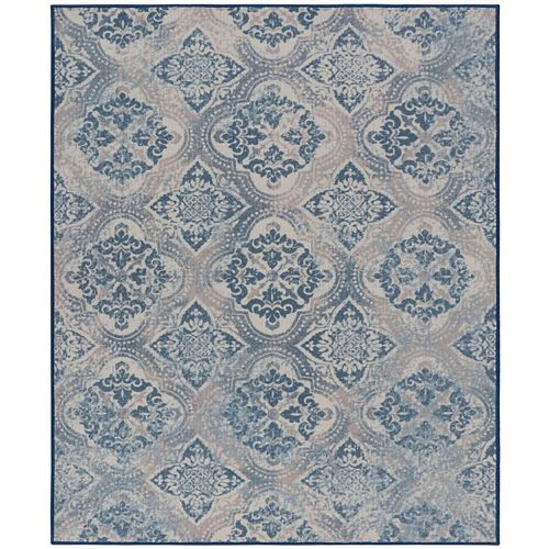 RugSmith Sand Patmos Tile Distressed Transitional Area Rug