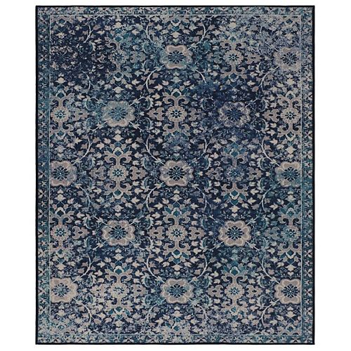 RugSmith Blue Danube Distressed Transitional Area Rug