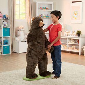 Melissa & Doug Giant Lifelike Plush Grizzly Bear