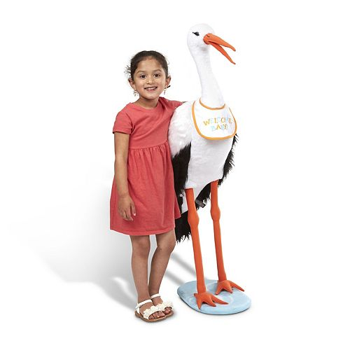 Melissa & Doug Giant Lifelike Plush Stork