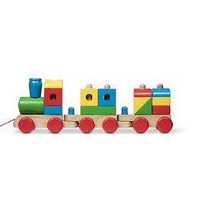 Melissa & Doug Wooden Jumbo Stacking Train