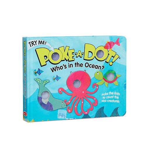 Melissa & Doug Children's Book - Poke-a-Dot: Who's in the Ocean