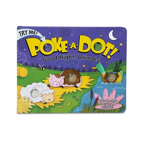 Melissa & Doug Children's Book - Poke-a-Dot: Goodnight, Animals