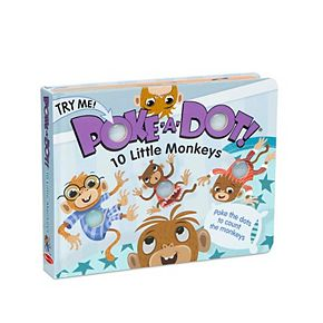 Melissa & Doug Children's Book - Poke-a-Dot: 10 Little Monkeys