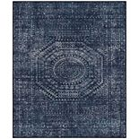 RugSmith Denim Helix Distressed Transitional Area Rug