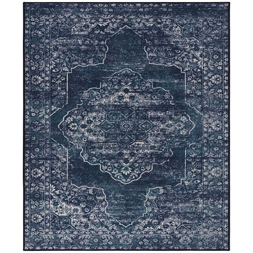 RugSmith Denim Modena Distressed Vintage Inspired Area Rug