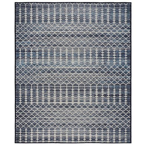 RugSmith Charcoal Norwich Distressed Transitional Area Rug