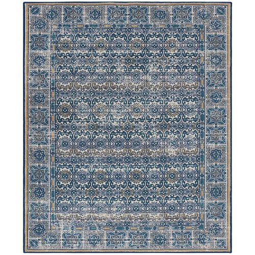 RugSmith Blue Bristol Distressed Transitional Area Rug