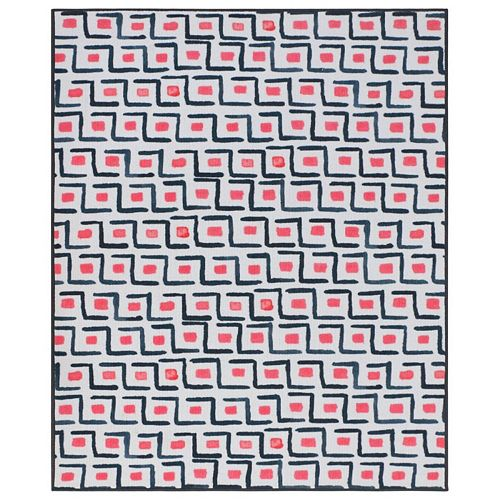 RugSmith Pink Catania Contemporary Modern Area Rug