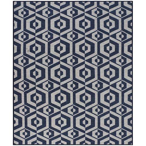 RugSmith Grey Azure Tile Mid-Century Geometric Area Rug