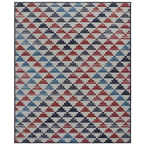 RugSmith Rust Seville Contemporary Geometric Area Rug