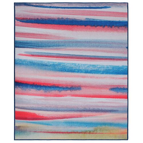 RugSmith Pink Rio Contemporary Modern Area Rug