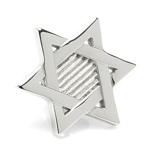Men's Ox & Bull Trading Company Star of David Stainless Steel Lapel Pin