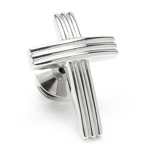 Men's Ox & Bull Trading Company Cross Stainless Steel Lapel Pin
