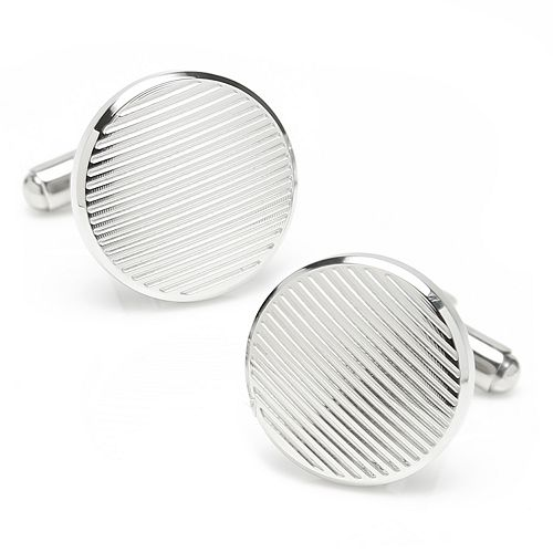 Men's Line Stainless Steel Cuff Links