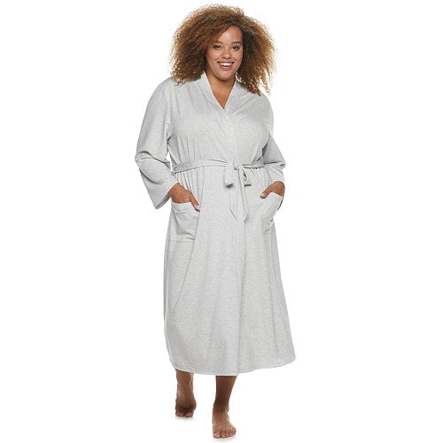 Plus SONOMA Goods for Life™ Long French Terry Knit Robe