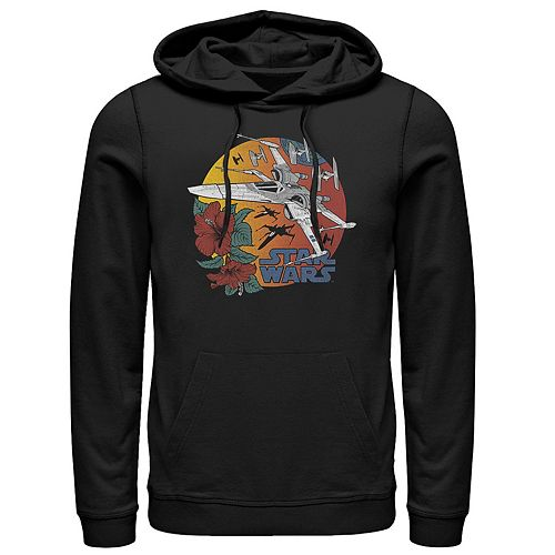 Men's Star Wars The Rise of Skywalker Tropical X-Wing Graphic Hoodie