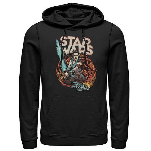 Men's Star Wars The Rise of Skywalker Rey Retro Swirl Graphic Hoodie