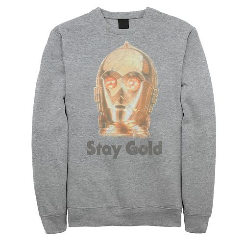 Men's Star Wars The Rise of Skywalker C-3PO Stay Gold Fleece Graphic Top