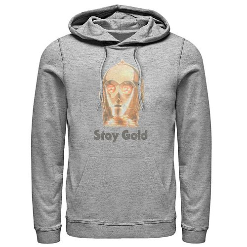 Men's Star Wars The Rise of Skywalker C-3PO Stay Gold Graphic Hoodie