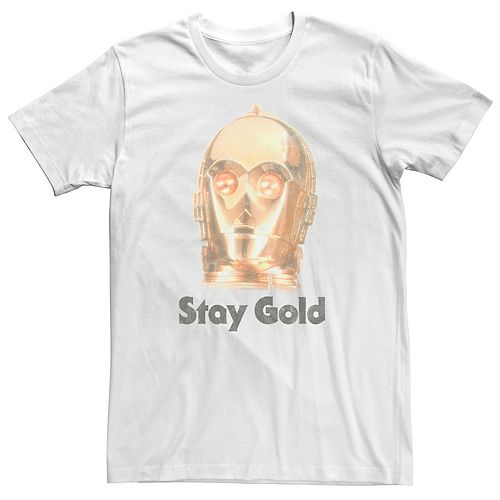 Men's Star Wars The Rise of Skywalker C-3PO Stay Gold Graphic Tee