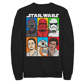 Men's Star Wars The Rise of Skywalker Character Grid Fleece Graphic Top