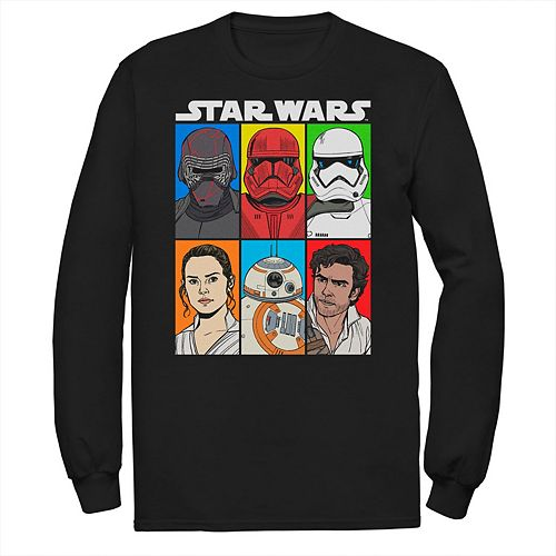 Men's Star Wars The Rise of Skywalker Character Grid Long Sleeve Graphic Tee