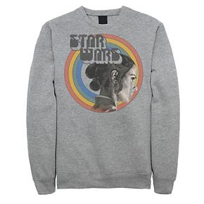 Men's Star Wars The Rise of Skywalker Rey Vintage Rainbow Fleece Graphic Top