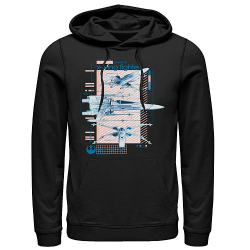 Men's Star Wars The Rise of Skywalker X-Wing Details Graphic Hoodie