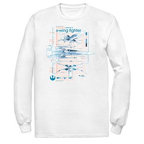 Men's Star Wars The Rise of Skywalker X-Wing Details Long Sleeve Graphic Tee