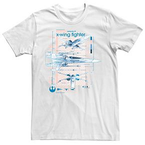 Men's Star Wars The Rise of Skywalker X-Wing Details Graphic Tee
