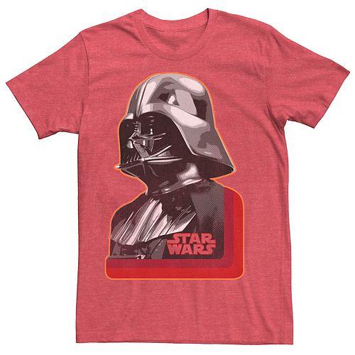 Men's Star Wars Darth Vader Retro Portrait Profile Graphic Tee