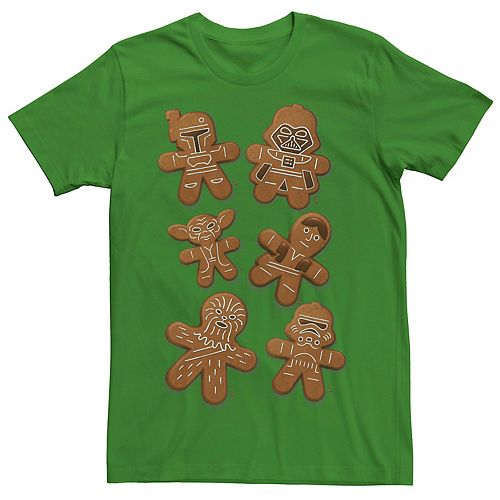 Men's Star Wars Christmas Ginger Bread Wars Graphic Tee