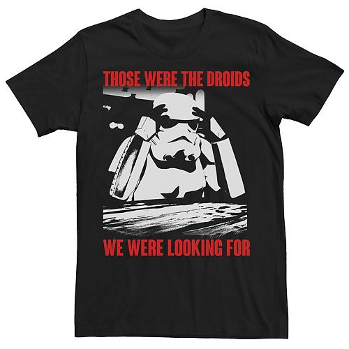 Men's Star Wars Stormtrooper Those Were The Droids Tee
