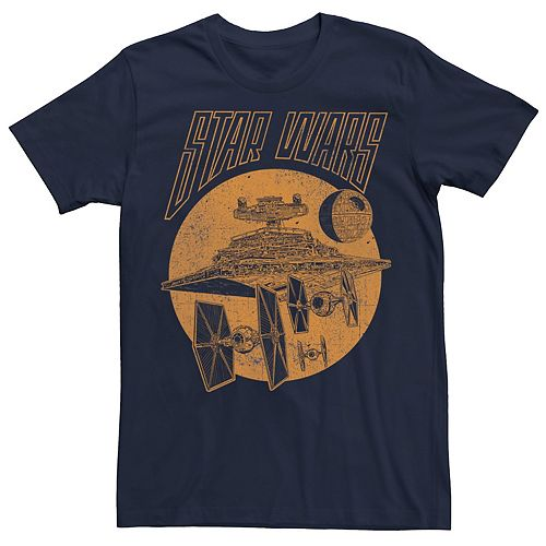 Men's Star Wars Imperial Ships Retro Poster Graphic Tee