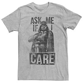 Men's Star Wars Darth Vader Ask Me If I Care Graphic Tee