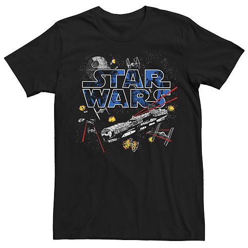 Men's Star Wars Flight Of The Falcon Graphic Tee
