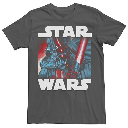 Men's Star Wars Darth Vader Saber Up Close and Personal Graphic Tee