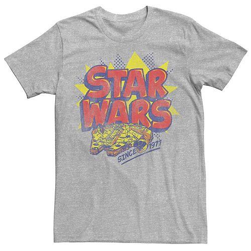 Men's Star Wars Millennium Falcon Retro Logo Tee