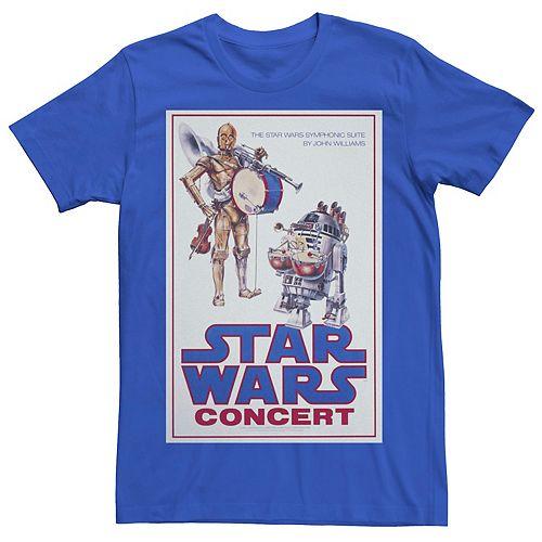 Men's Star Wars C-3PO R2-D2 Concert Poster Graphic Tee