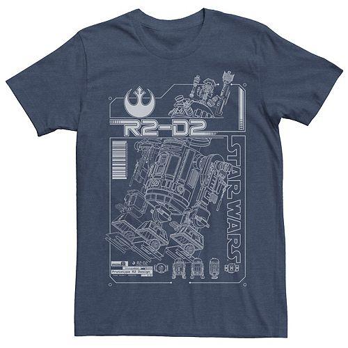 Men's Star Wars R2-D2 Schematics Breakdown Graphic Tee