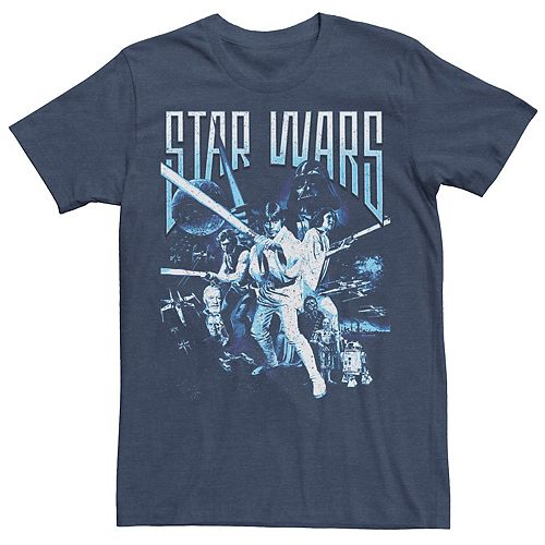 Men's Star Wars Jedi Defense Poster Graphic Tee