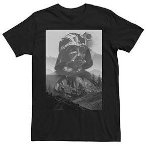 Men's Star Wars Darth Vader Endor Station Super Imposed Graphic Tee