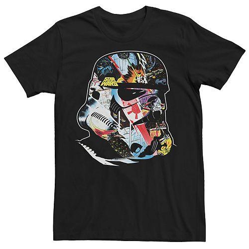Men's Star Wars Comic Stormtrooper Head Graphic Tee